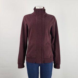 Lululemon Burgundy Zip Up Jacket Size 8